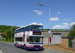 First West Yorkshire 30841 in Huddersfield (simon835) Tags: west volvo yorkshire first alexander rider royale olympian 5661 30841 t661vwu