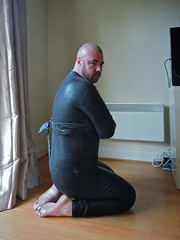 Fetishwear #2 (Scott A Hamilton) Tags: gay portrait male fetish bondage rubber barefoot snapschotts