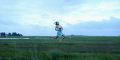 211/365 (KatieMackPhotography) Tags: flowers sky panorama water girl grass canon 50mm flying dress suspension floating levitation marsh 365 boquet sundress hovering scituate brenizer 60d katiemackphotography