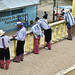 Abitanti di Todos Santos Cuchumatan in fila