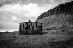 Abandoned (sandrine L.) Tags: leica bw mountain abandoned iceland fjord emptiness m9