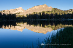 Mountain Reflections in Turquoise Lake (Free Roaming Photography) Tags: light summer usa mountain lake mountains west reflection water evening quiet relaxing peaceful calm jackson reflect western northamerica remote wyoming turquoiselake glaciallake grosventre grosventrewilderness grosventremountains