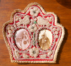 Indian beaded souvenir photo frame made in the early 1900's