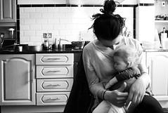girls in the kitchen (gorbot.) Tags: portrait blackandwhite home kitchen mia roberta rangefindercamera mmount leicam8 silverefex voigtlander21mmcolorskoparf4