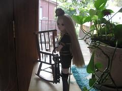 Lin is guarding the giant door (aly7kat) Tags: door plant flower green glass rock pose giant keys skeleton j leaf big holding chair key doll linden unterdenlinden unter den guard posing rocking rockingchair lin leafs job guarding skeletonkey skeletonkeys jdoll unterden