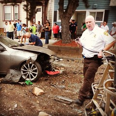 Lt McDevit keeping the scene safe at an MVC. #bostonems (Boston EMS Relief Association) Tags: boston ambulance medical emergency medic paramedic ems emt services bostonems instagram ifttt
