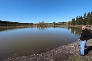 Allen Bill pond Alberta before the floods of June 2013