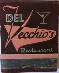 DEL VECCHIO'S SAN FRANCISCO CALIF (ussiwojima) Tags: sanfrancisco california bar advertising restaurant lounge cocktail matchbook matchcover delvecchios