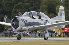 North American T-28B Trojan (Boushh_TFA) Tags: nikon belgium air north 300mm american nikkor trojan base f28 kv t28 d600 t28b 863 2013 vrii vliegbasis kleinebrogel ebbl spottersdag nx377ww i37777