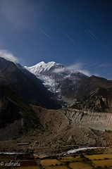 Star trail over Gangapurna, Manang, Annapurna Circuit Trek (Subhozrhapsody) Tags: nepal mountains trekking himalaya manang startrail sigma1020 gangapurna annapurnacircuittrek d5100