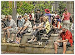 A SLICE OF LIFE....... (Derek Hyamson (5 Million views)) Tags: people river waterfront candid hdr mersey pierhead