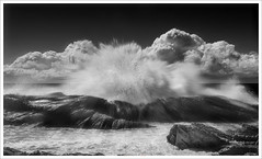 Breaking Wave B&W (caralan393) Tags: bw blur art clouds movement experimental power wave