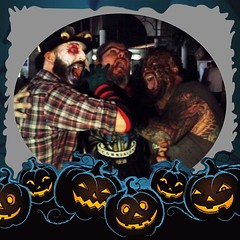 Craig and Brad killing me at Fright Nights at the south florida fairfrounds, go check out the rad haunts!!!!!! #frightnights #happyhalloween