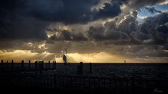 Zonsondergang haven Ameland (PortSite) Tags: