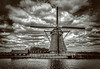 Achtkante Molen (Wim Koopman) Tags: light sky holland reflection mill water netherlands windmill dutch clouds landscape nikon waves view wind nederland dramatic boezem molenkade d5200 ammersche