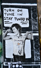 Police Box beneath the Flodden Wall (Ermintrude73) Tags: posterart sidvicious