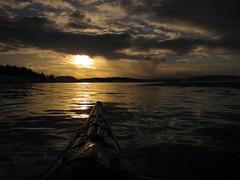 Paddling on sunny water (pasto) Tags: ocean water norway fun stavanger norge kayak kayaking kajakk winterkayaking