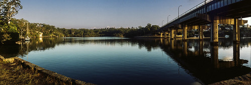 Figtree Bridge, Lane Cove River; early one Sunday morning