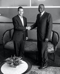 Reunión con el Ministro de Petróleo y Energía de Costa de Marfil, Adama Toungara.