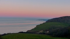 Beauty surrounded (KerKaya) Tags: pink blue sunset seascape green purple pastel cliffs monet varengeville fz200 kerkaya