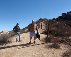 025 Saddle Junction (saschmitz_earthlink_net) Tags: california sign control junction trail orienteering aguadulce vasquezrocks losangelescounty 2013 laoc losangelesorienteeringclub