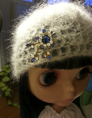 Asian Butterfly - jeweled mohair hat