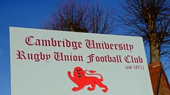 CU Rugby Union Football Club (Cambridge University) Tags: blue cambridge red sky sign cu university lion rugbyunionfootballclub