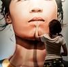 Creta (Porceddu Alberto) Tags: donna foto quadro francesca creta mano museo colori bocca viso dito 2014 volto artecontemporanea alberillo albertoporceddu