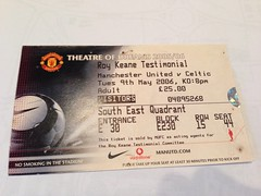 Roy Keane Testimonial: Manchester United v Celtic. 09/05/06 (Sam_Mason Photography) Tags: ireland irish manchester football coins signature ticket autograph collections match celtic olympics manchesterunited zola programme testimonial mufc roykeane dimatteo footballticket theatreofdreams chel