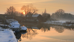 Classic (Jonny Hirons) Tags: winter snow cold water river landscape canal peace pastel yorkshire peaceful tranquility northyorkshire riverderwent efs1585mmisusm