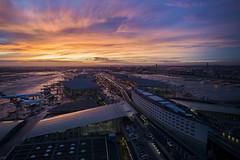Vigie Sud (Imo Pectore) Tags: paris airport aéroport roissycharlesdegaulle leicam9p superelmar21asph {vision}:{sky}=0977 {vision}:{ocean}=0784 {vision}:{outdoor}=0828 {vision}:{sunset}=0853 {vision}:{clouds}=0888
