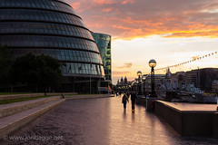 City Hall London and Southbank at sunset (Jon Bagge) Tags: sunset england london thames cityhall hmsbelfast abigfave canoneos60d ringexcellence dblringexcellence sigma35mmf14dghsmart jonbagge infinitexposure