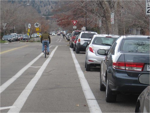 Photo - Spruce Street Buffered Bike Lanes