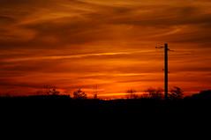 Another day is done (guido1515) Tags: county sunset red sky orange cloud sun tree skyline landscape fire jasper power sony profile alabama line pole walker parrish