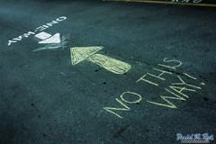 No, This Way! (Daniel M. Reck) Tags: street city urban college chalk university traffic unitedstates nashville drawing pavement tennessee joke cement vanderbilt transportation arrow confusion confusing practicaljoke jk feature vandy vanderbiltuniversity dmrfeature