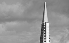 long days away (pbo31) Tags: sanfrancisco california sky blackandwhite architecture spring nikon pyramid contemporary gray financialdistrict april transamerica russianhill 2014 d90