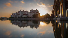 pebble ray (wonglp) Tags: longexposure sunrise reflections singapore m43 mirrorless microfourthirds olympusem10