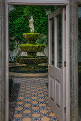 Lyme Park_141011_0169 (Steve Bark) Tags: park uk england history fountain statue nikon cheshire greenhouse cherub historical lyme dx d300