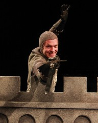"""Mika Duncan as Sir Lancelot in the 2010 Music Circus premiere of the Tony Award-winning Best Musical """"Monty Python's Spamalot"""" at the Wells Fargo Pavilion, July 9-18.  Photo by Charr Crail."""