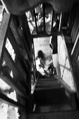 Going Downstairs (sightmybyblinded) Tags: poverty blackandwhite house girl country streetphotography outoffocus slum developingcountry developing canon500d
