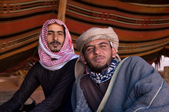 Bedouin camp (Travels with Kathleen) Tags: wadirum jordan desert camp tent bedouin arab portrait men ngc flickrtravelaward