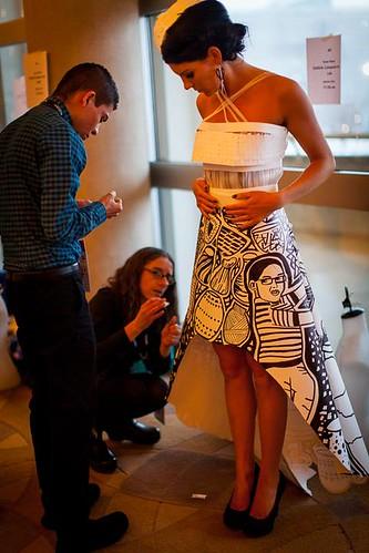 Backstage 10th Annual Paper Fashion Show