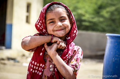 People on the road - 365 Portrait Project - Day 73 (Tarang Jagannath) Tags: 365portrait kids girl village real people smile simple red cute