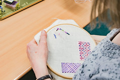 DSC_0719 (surreyadultlearning) Tags: embroidery sewing adulteducation surrey camberley art craft tutor uk painting calligraphy photography