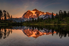 Picture Lake at Sunset, WA (PIERRE LECLERC PHOTO) Tags: shuksan mountshuksan mtshuksan picturelake lake reflection sunset mountain landscape nature washingtonstate wa state park calm evening photography roadtrip adventure travel 5dsr pierreleclercphotography wilderness outdoors glow sunlight scenic natgeo lastglow pacificnorthwest metalprints canvasprints acrylicprints framedprints posters wallart photographs
