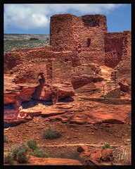 Wupatki Pueblo ruins, Wupatki NM., Az (Mike Woodfin) Tags: old travel red usa color history abandoned nikon decay historical striking crusty deserted decrepid