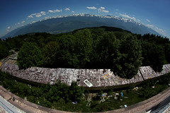 Vue sur les Alpes (Le Chakal) Tags: fish france eye alpes canon sanatorium montagnes urbex