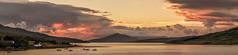 Skye sunset (Richee Wilson) Tags: sunset summer skye landscape boats isleofskye harbour panoramic