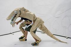 Cardboard Dinosaur (Tanaka Satoshi) Tags: costume dinosaur cardboard   makedo  makedojo  tanakasatoshi  make