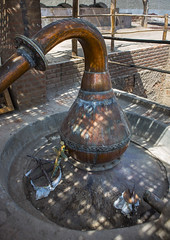 Pisco Alembic, Cuzco, Peru (Eric Lafforgue) Tags: peru latinamerica southamerica vertical outdoors photography day cross drink nobody nopeople container equipment alcohol copper andes distillery making pisco distillation alambic  traveldestinations colorimage alembic ruralscene colourimage      per2622